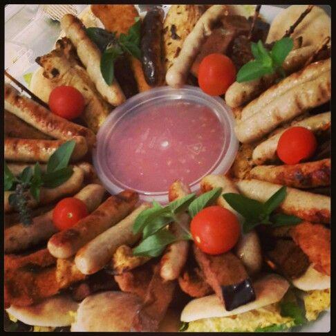 Mixed chicken platter