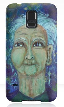 Auntie Ebb Samsung Galaxy cases ~ http://www.redbubble.com/people/elizafayle/works/13682796-auntie-ebb?p=samsung-galaxy-case  #woman #old #elderly #wise #crone