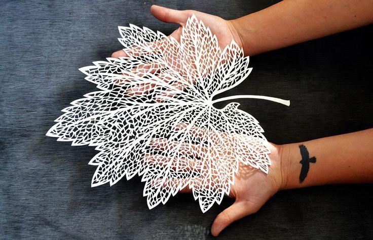 Paper cut leaf