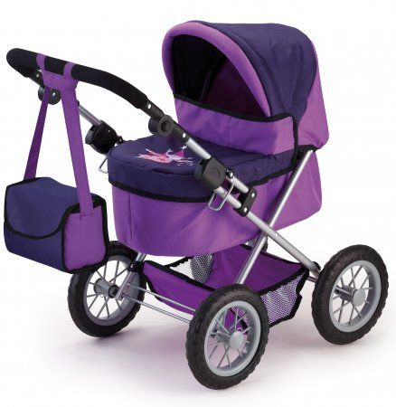 Bayer Design Trendy kočárek pro panenky lila | MALL.CZ