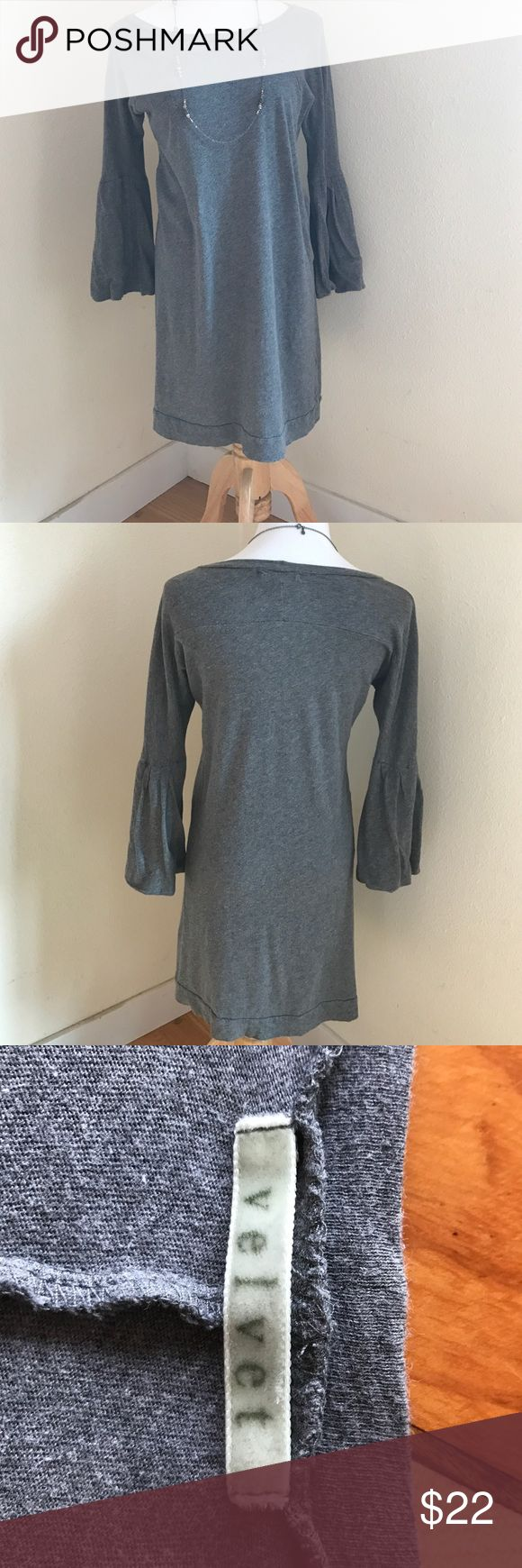 Velvet by Graham Spencer Tunic Velvet by Graham Spencer Tunic in grey. Soft and comfy with jeans or leggings. Bell cuffs. Good used condition Velvet Tops Tunics