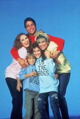 'Who's The Boss,'  1985.  Actors Tony Danza, Judith Light, Alyssa Milano, Katherine Helmond, and Danny Pintauro