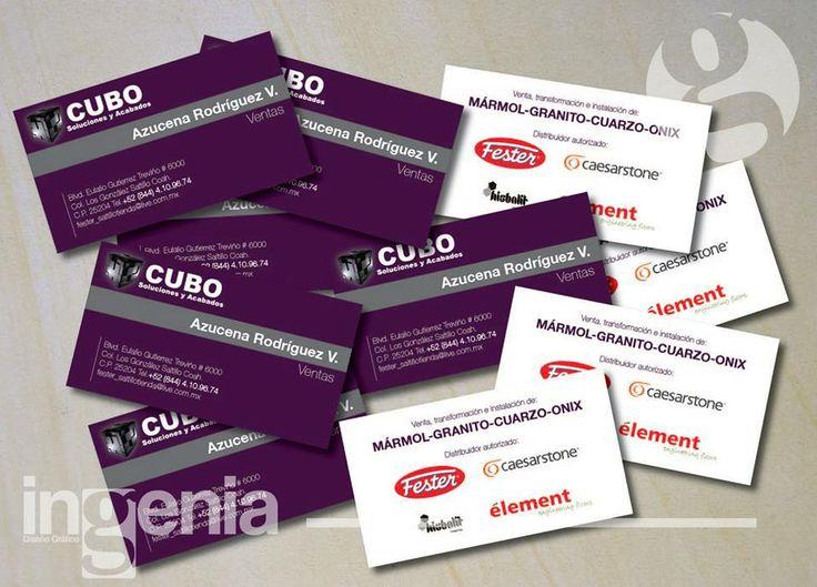 Tarjetas de Presentación Para más muestras, agréganos. www.facebook.com/ingenia.disenografico