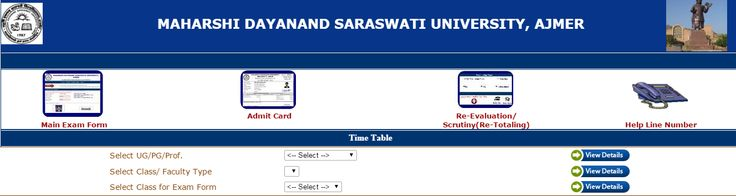 MDSU BA Part 3rd Year Admit Card 2016, MDSU has uploaded Bachelor of Arts III Year regular & Private Exam Call Letter on website, Candidates download name wise permission letter 2016