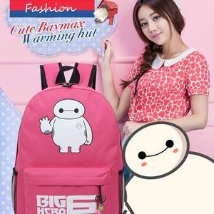 Tas Ransel Warnita Baymax Big Hero Fashion Korea I29E