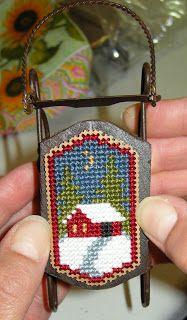 winter cross stitch    (....cr...cute idea for the tree)