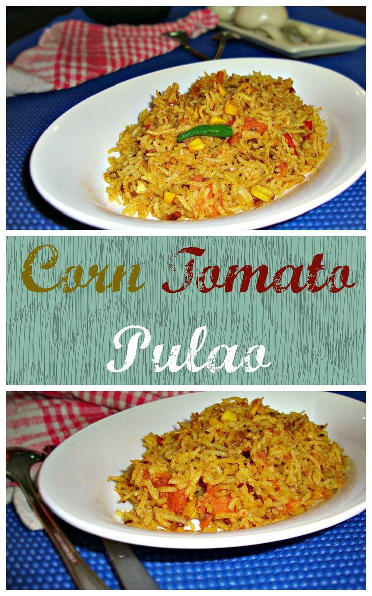 a classic combination of corn and tomato...
