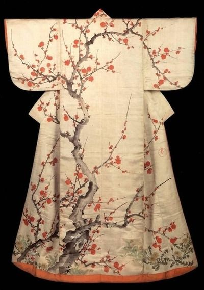 Beautiful cherry blossom kimono; a classic look.