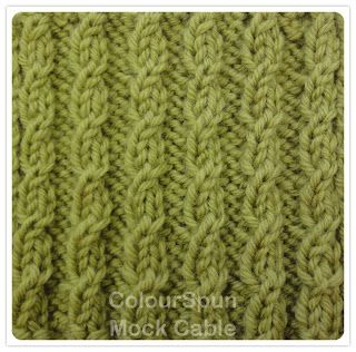 ColourSpun: ColourSpun In Stitches - Mock Cable