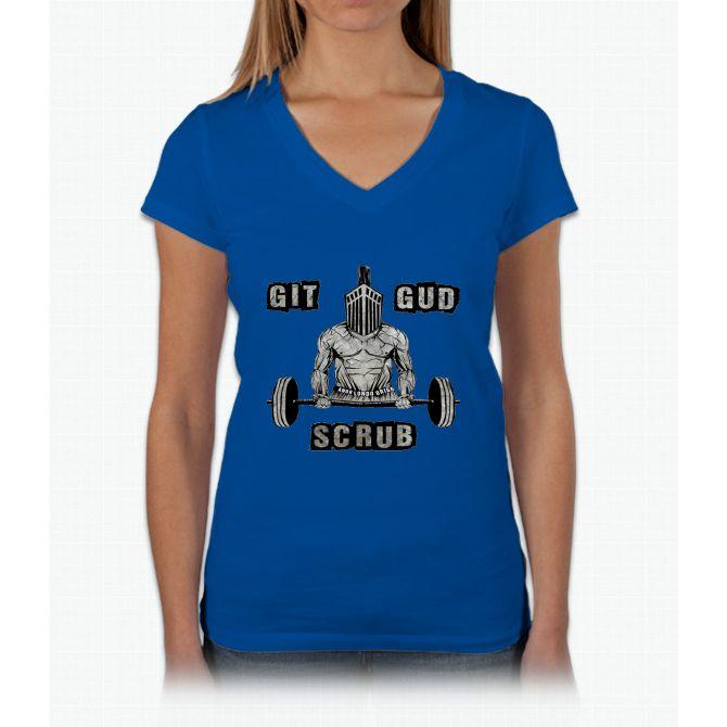 git gud scrub Womens V-Neck T-Shirt
