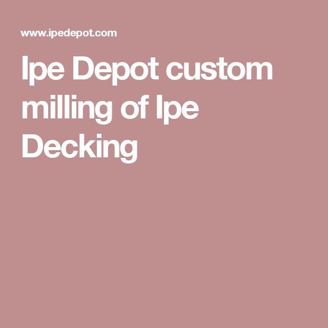 Ipe Depot custom milling of Ipe Decking