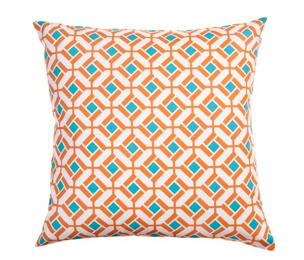 House of Turquoise: Turquoise and Orange: Blue Throw Pillows, Households Idea, Color Palettes, Orange Pillows, Color Combos, Marrakech Pillows, Marrakech Fabrics, Blue Orange, Products