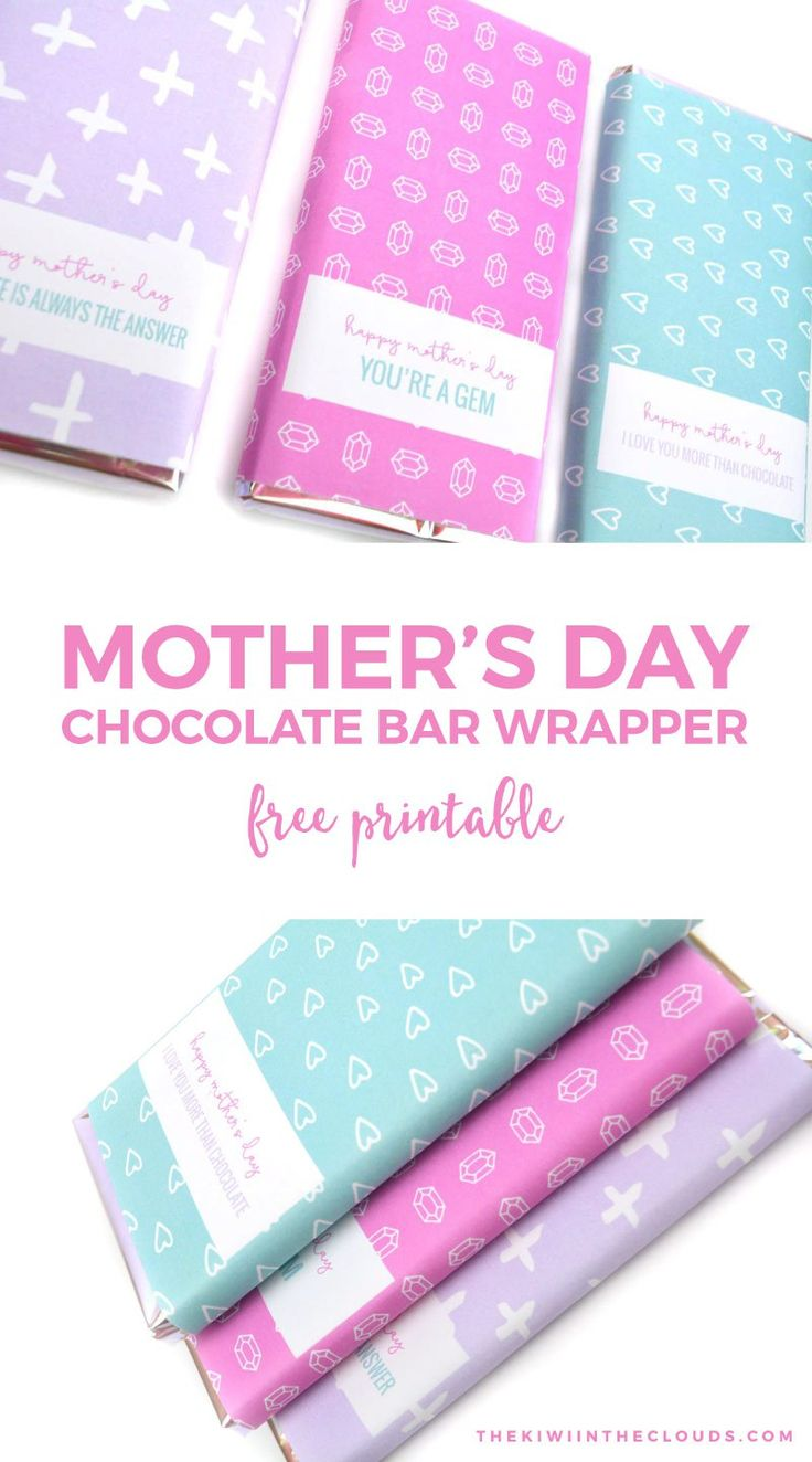 Free Printable Mothers Day Candy Bar Wrappers Mothers