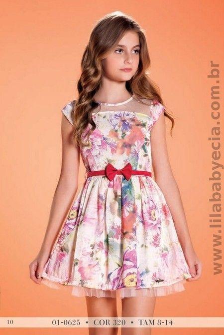 Já Imaginou sua #Princesa com este lindo - Vestido Infantil Estampado Diforini Moda Infanto Juvenil