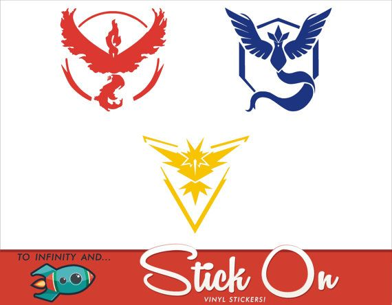 Pokemon GO Decals Valor Logo Mystic Logo by ToInfinityAndStickOn