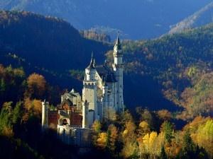 Neu Schwanstein Castle in Bavaria, Germany.