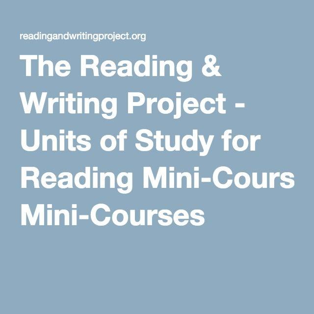 Units of study essay