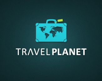 Travel Planet Logo design - Travel Planet is an memorable funny logo for a non-conformist tourism related business. This design also can be used for travel agencies, online travel web sites, tourism blogs or adventure guides. Go and travel! Price $350.00