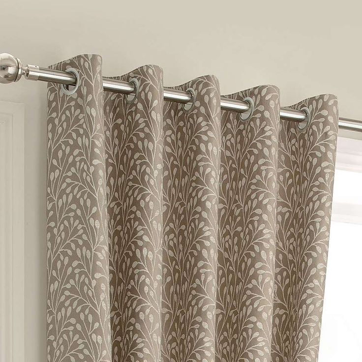 Willow Cream Lined Eyelet Curtains | Dunelm