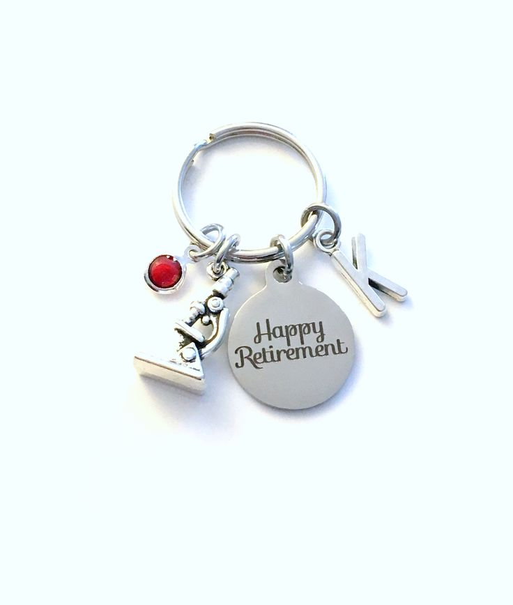 Retirement Gift for Lab Tech Keychain Science