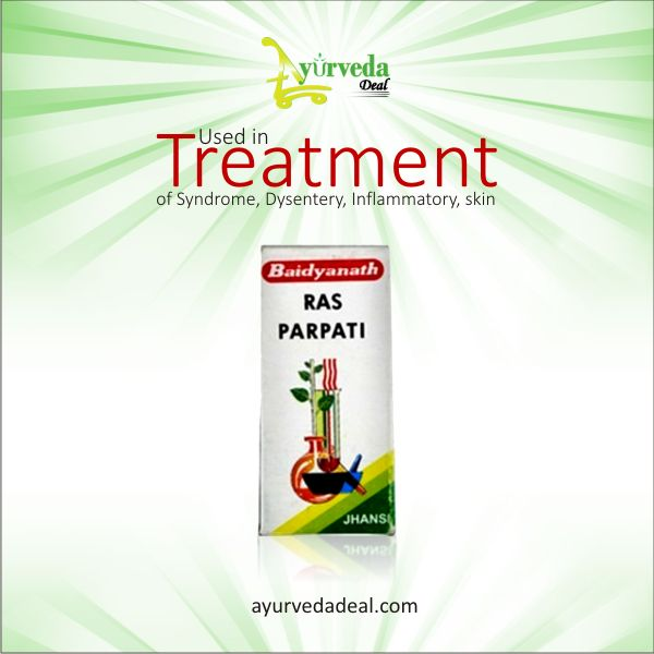 Baidyanath Ras Parpati used in treatment of #Syndrome #Dysentery #Inflammatory #skindiseases #Polyphagia #Dyspepsia @