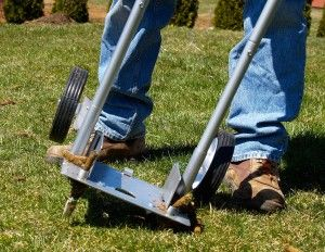 A #lawn #aerator that's much easier on your back!