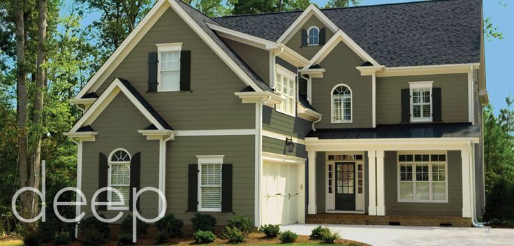 Best 25 green exterior paints ideas on pinterest green - Green exterior paint color schemes ...