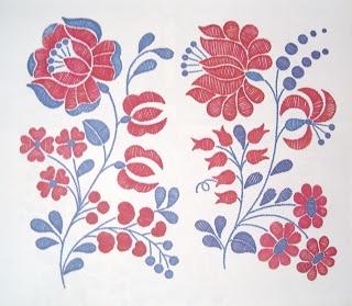Magyar népi motívumok: Kalocsai virágminták 12