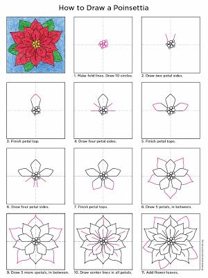 Art Projects for Kids: How to Draw a Poinsettia