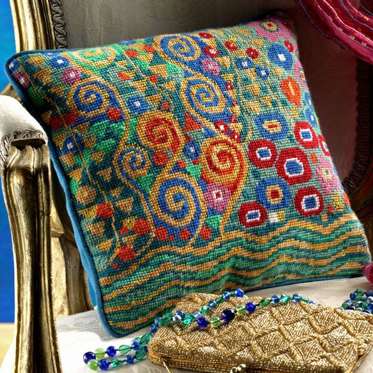 Klimts: Jade by Candace Bahouth; Ehrman wools, http://www.ehrmantapestry.com/Products/Klimt--Jade__GKL.aspx#.UUOawFeZFLo: Tapestries, Pattern, Needlework, Klimt Jade, Art, Ehrmantapestry