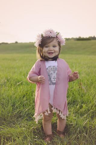 « BOHO LION » BODYSUIT - The Pine Torch. Baby girl clothes, baby girl flower crown, baby girl kimono, baby boho lion onesie