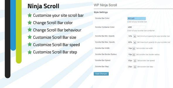 WP Ninja Scroll Bar customizer