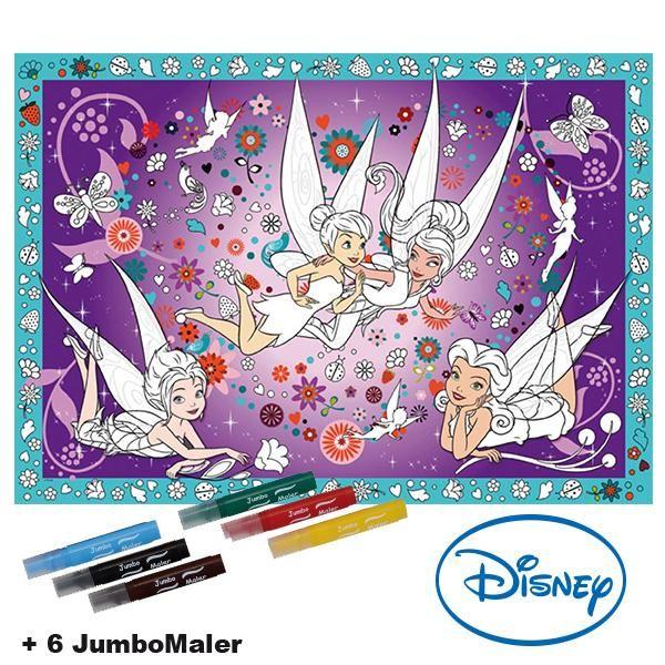 #BoMaBi #Tinkerbell ● Poster 118 x 84 cm zum #ausmalen incl. 6 Jumbomalern ● #Malen, #Spielen, #joyPac®