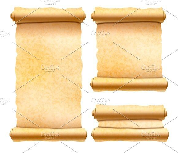 Old textured papyrus scrolls. Best Objects