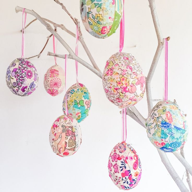 Lovely Liberty Easter Egg Craft Project. Full tutorial on our blog. Alice Caroline