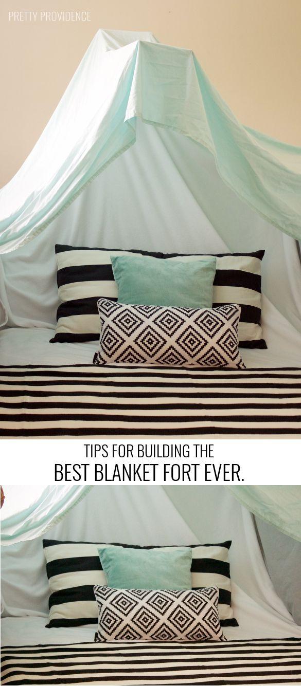 These tips for building the best blanket fort are legit! #CelebrateFamilyValues #ad #familyfun
