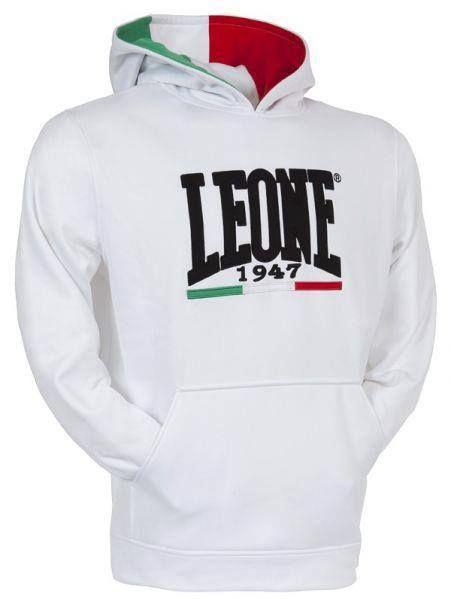 bluza z kapturem LEONE 1947 BIAŁA roz XS