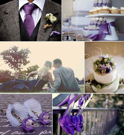 Purple & Gray Weddings | Purple & Gray Wedding Accessories