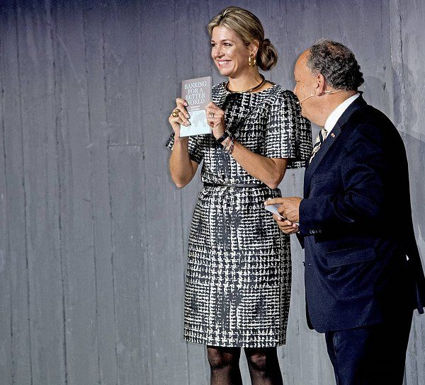 Dutch Queen Maxima attends FMO finance conference.  26-9-2016