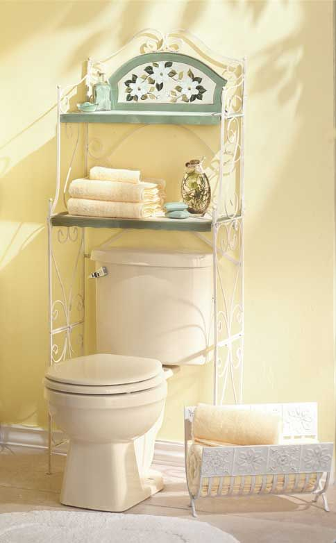 magnolia bathroom shelf a genteel way to add storage to tight quarters these space saving shelves fit snugly over the toilet to make a decorative home for