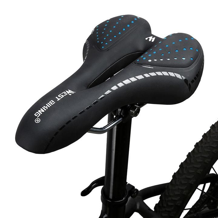 Mountain Bike Road Bicycle Racing Hollow Seat Saddle Cycling Leather Cushion