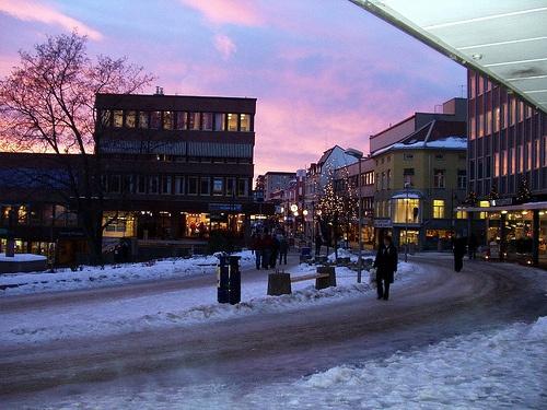 Winter sky in Hamar, Norway.