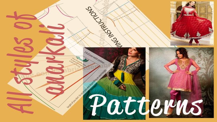 Anarkali dress  patterns tutorial  ☁ How to make all types of  Anarkali dress  patterns ☁Cloud Factory tutorial. She has many nice patterns and videos of Indian style