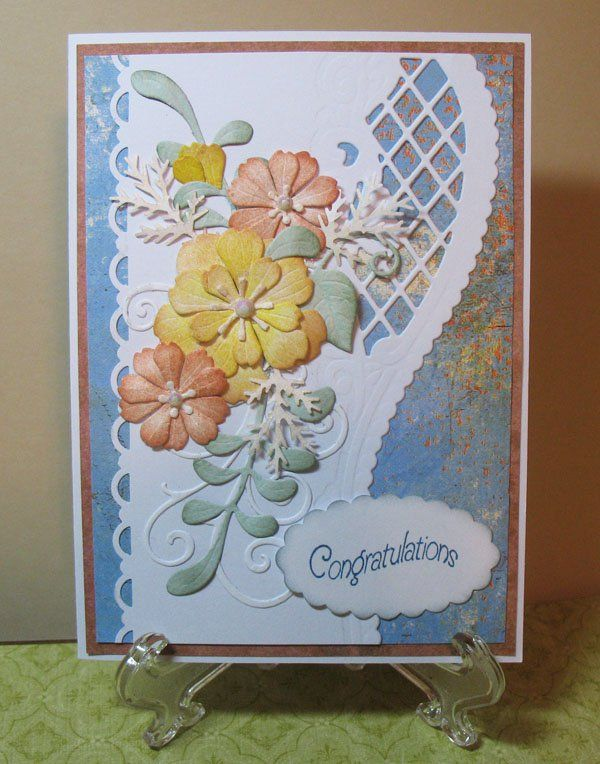 wedding card love using this lattice die so elegant