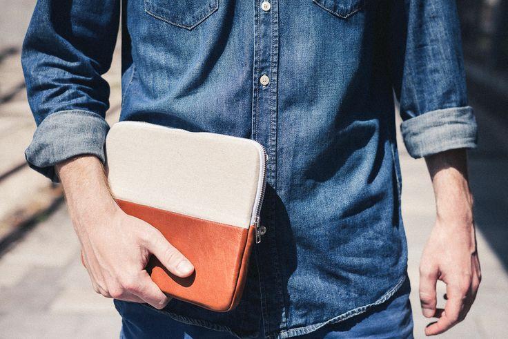 www.amofw.com leather / cotton iPad case