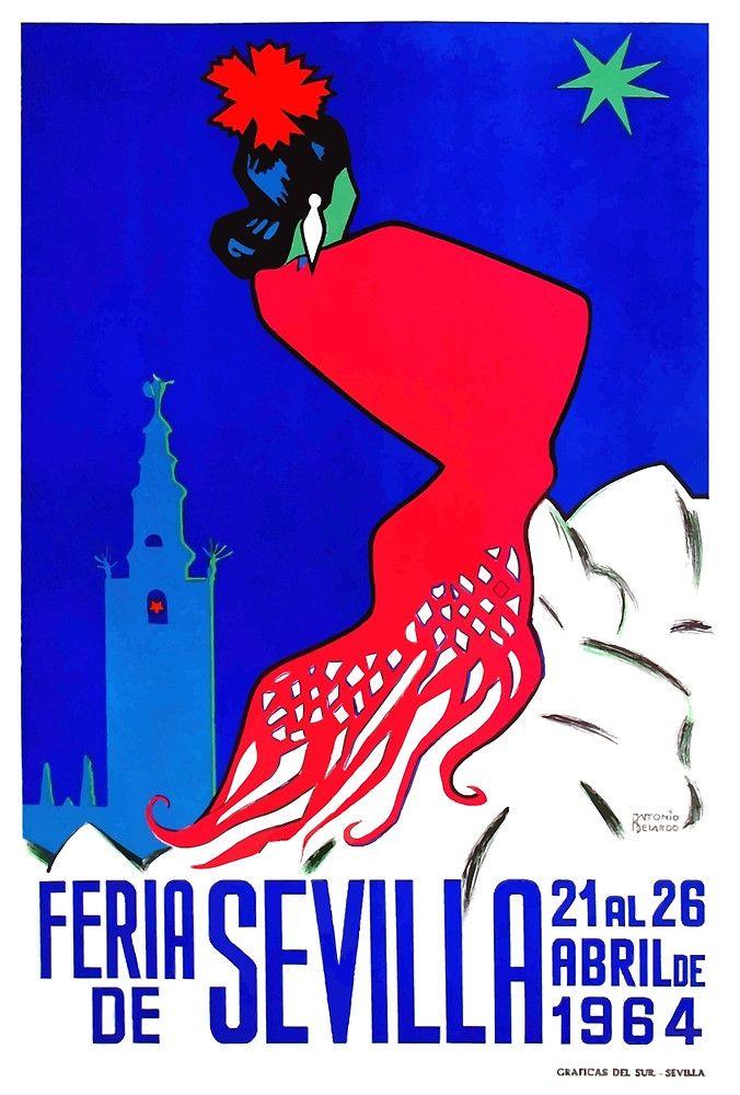 Spain 1964 Seville April Fair Poster,seville april fair,andalusia,seville,spain,flamenco,sevilla,poster art,vintage poster,festival,andalusia, easter, fiesta, sevillana, tapas,spanish,travel,tourism,feria,semana santa,fiesta,spring,
