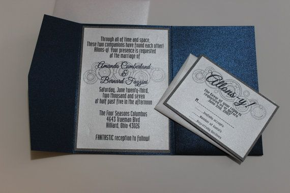 dr who wedding invitations dr who inspired pocket fold wedding invit