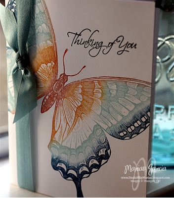 handmade card from Studio M by Maria: Swallowtail Stamp card ... beautiful