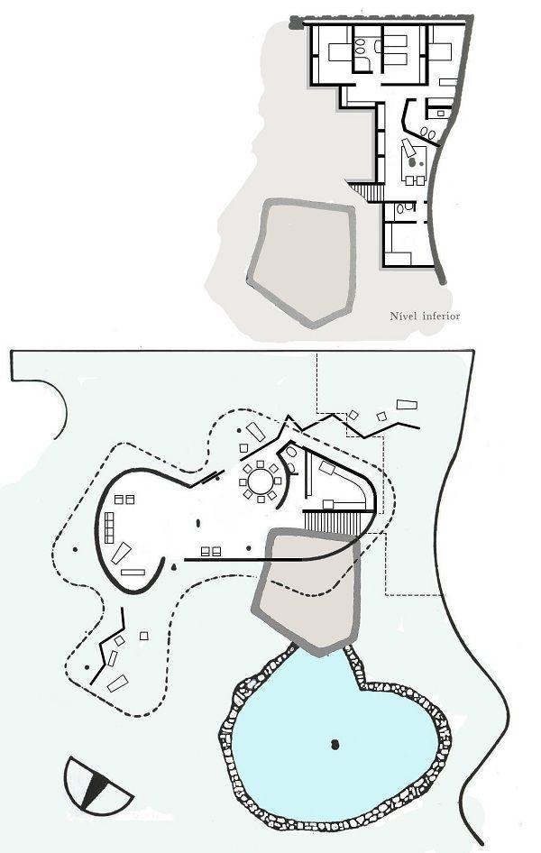 Casa das Canoas Plans - Oscar Niemeyer