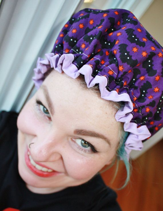 Shower Cap Retro Vintage inspired 50s housewife by brookleigh